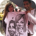 Caricatures on T-shirts-1