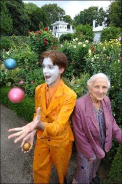 Tully the clown and Dame Elisabeth Murdoch