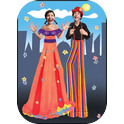 Tall Poppies - Roving Minstrels on Stilts-1