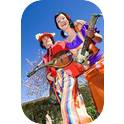 Tall Poppies - Roving Minstrels on Stilts-2